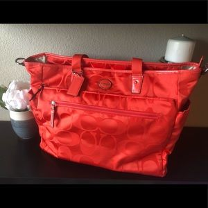 Coach Signature Diaper Tote Bag